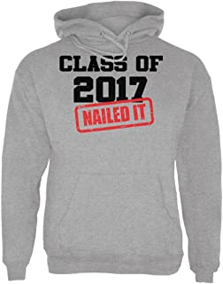 Graduation - Class of 2017 Nailed It Sport Grey Adult Hoodie