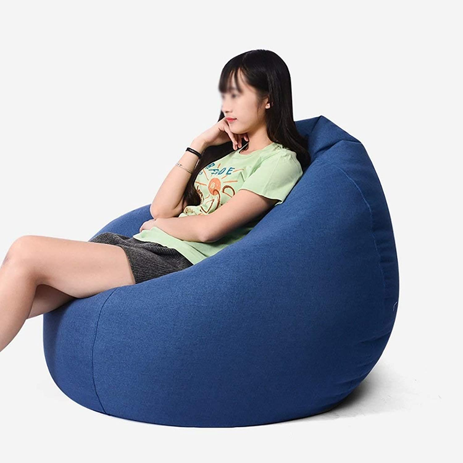 Solid color Bean Bag ChairIndoor Outdoor Lazy Sofa Adult Game Leisure Lounge Chair Soft Designer Chair Cushion degradable EPS Fill 90x110cm