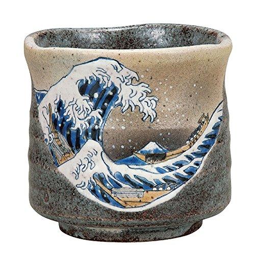 Kutani Yaki(ware) Japanese Yunomi Tea Cup Hokusai