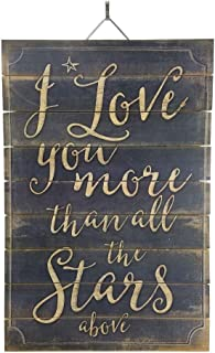 Imprints Plus I Love You More Than The Star Wood Sign, 12