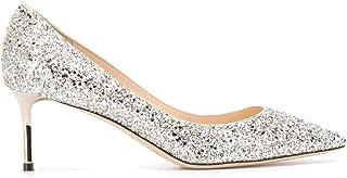 e5919779 Jimmy Choo ROMY60CGFCHAMPAGNE - Zapatos de Piel para Mujer, Color Plateado