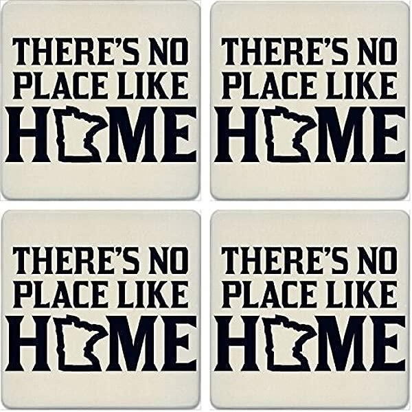 CoasterStone Absorbent Coasters Set Of 4 No Place Like Home Minnesota 4 1 4