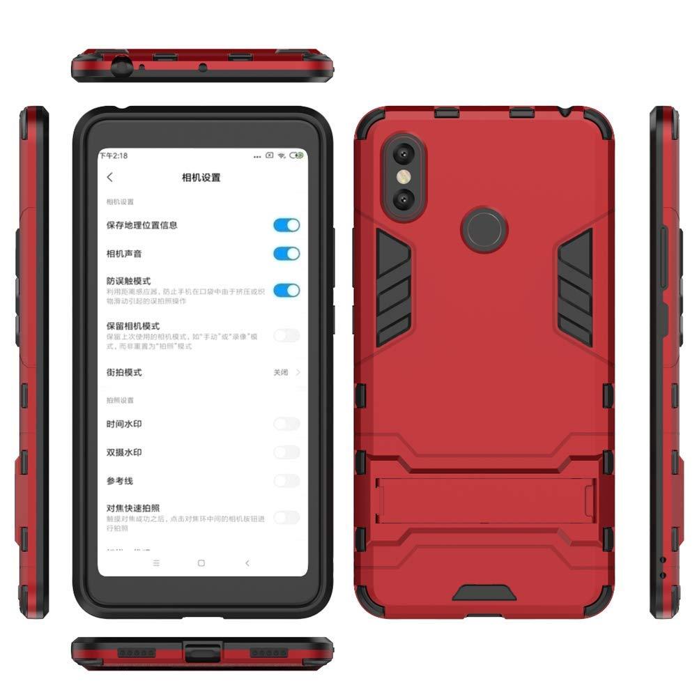 Suave TPU Silicona Rubber Case Cover con soporte para Xiaomi Mi Max 3 MHHQ 2in1 Armadura Combinaci/ón A Prueba de Choques Heavy Duty Escudo C/áscara Dura PC Silver Xiaomi Mi Max 3 Funda
