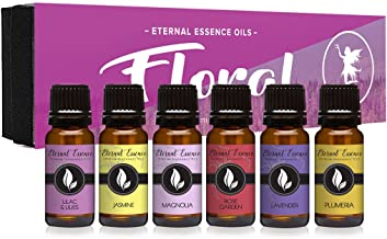 Floral Gift Set of 6/10ml Premium Grade Fragrance Oils – Lavender, Lilac Lillies,..