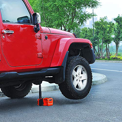 E-HEELP Electric Car Jack 5 Ton 12V Hydraulic Car Jack Lift for SUV MPV Sedan Truck Change Tires Garage Tool Kit