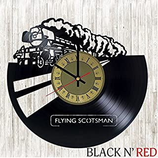 Flying Scotsman Vinyl Clock | British Railways | Best Gift for Train Lovers | Original Wall Home Decor