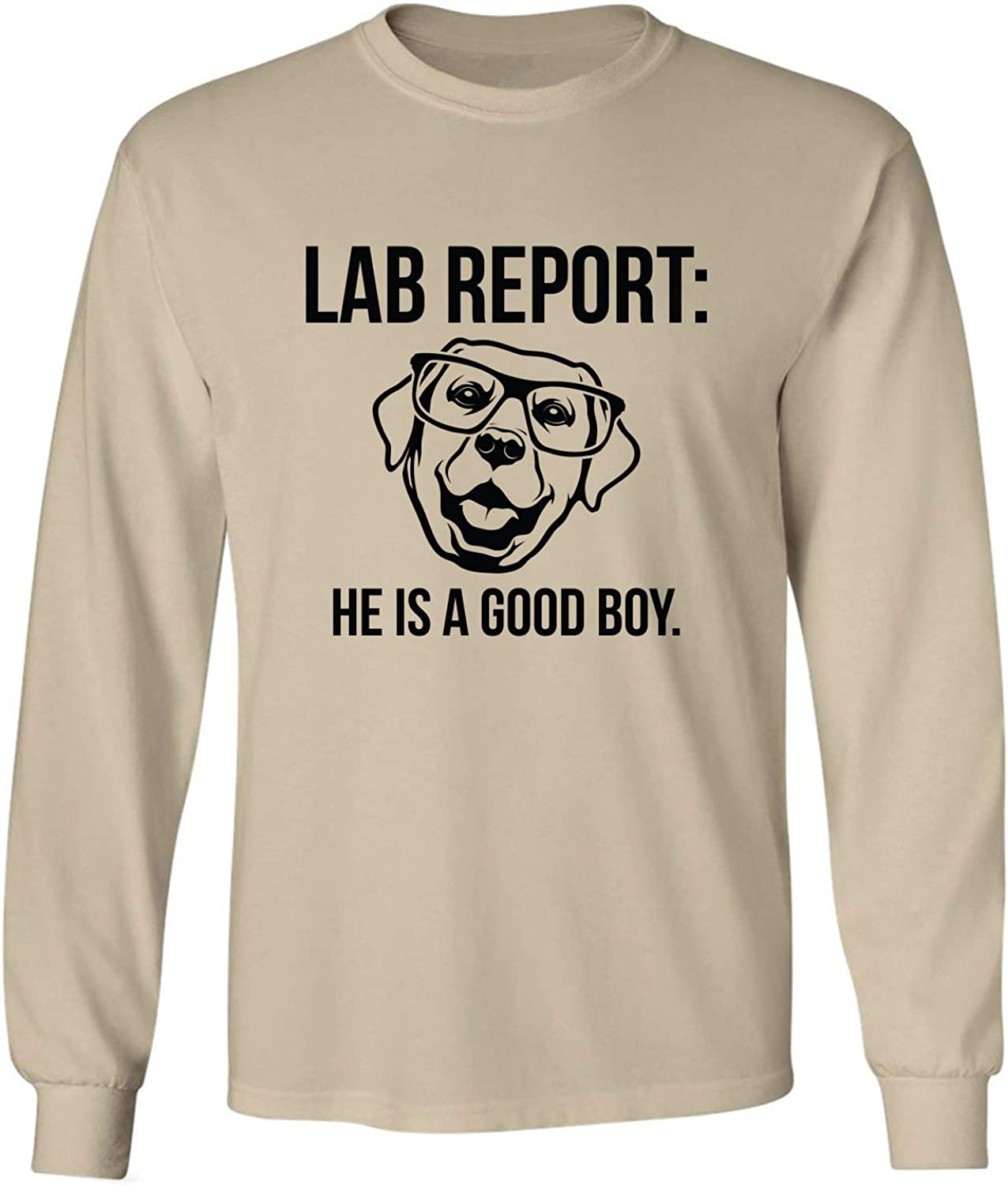 Lab Report Adult Long Sleeve T-Shirt in Sand - XXXXX-Large