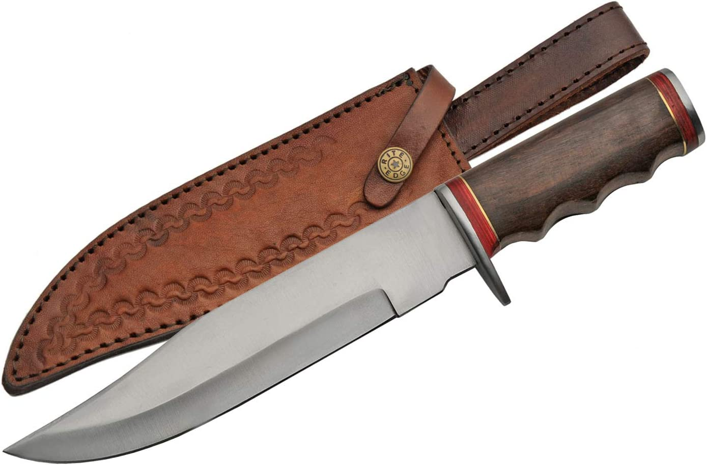 """Large-scale Austin Mall sale SZCO Supplies 12"""" Stainless Steel Hunting Handle Bowie Wood"""