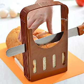 DishyKooker Home Practical Bread Cutter Loaf Toast Slicer Cutting Slicing Guide Kitchen Tool Convenient Items