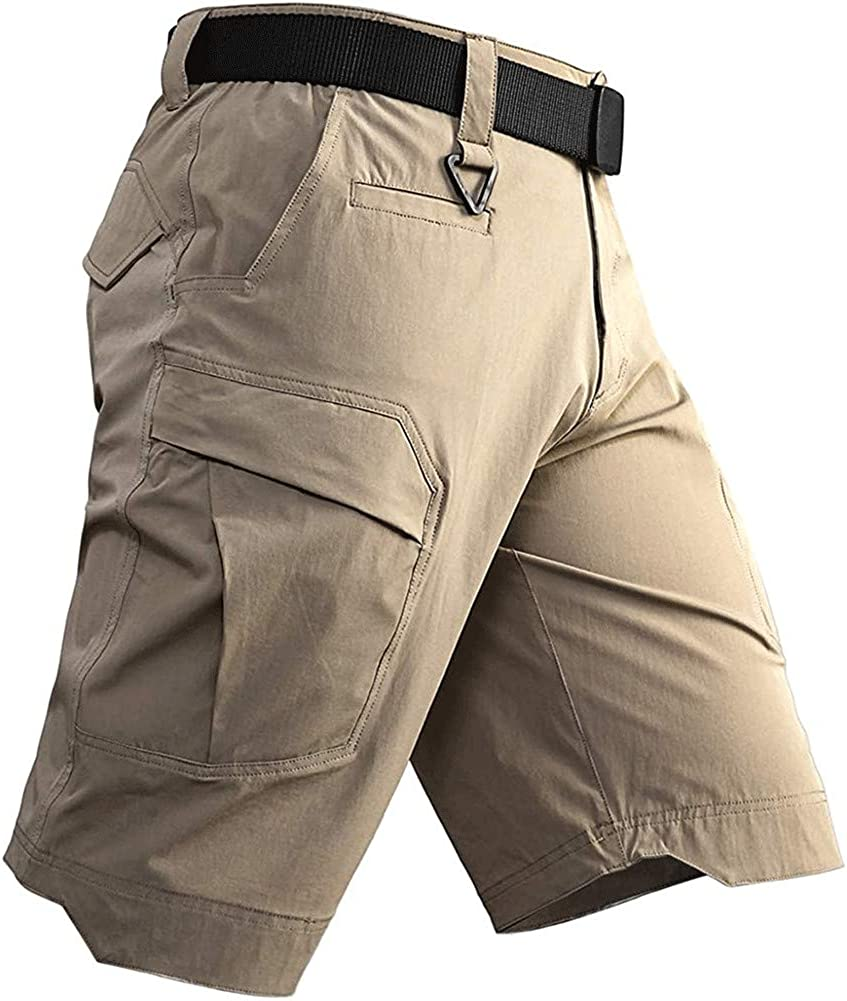 Astellarie Mens Tactical Lightweight Stretch Outdoor Hiking Cargo Shorts with Multi Pockets
