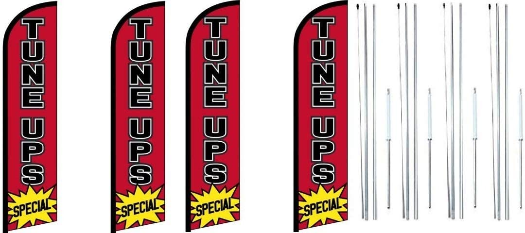Tune Max 47% OFF Ups King Bargain sale Windless Feather Flag Hybri with Complete Sign Kit