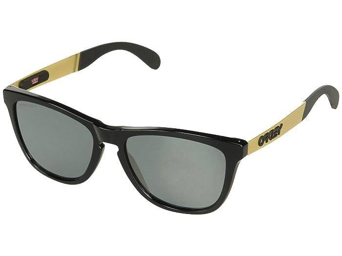 Oakley Frogskin Mix (Polished Black/Gold w/ PRIZM Black) Fashion Sunglasses
