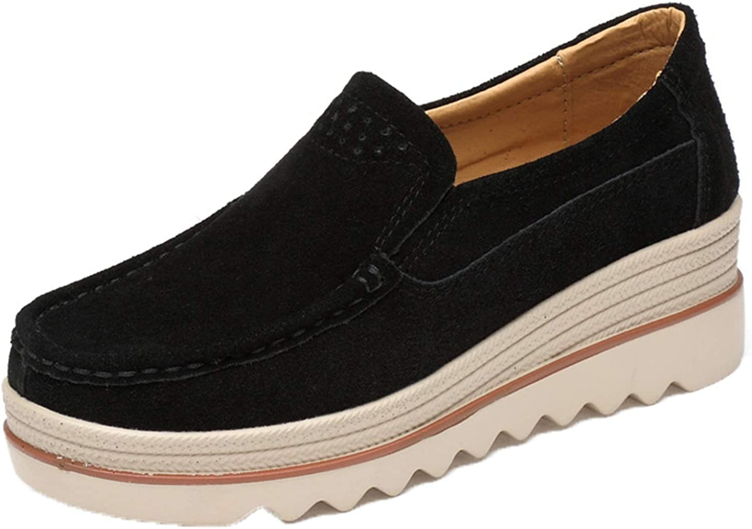 Generic2 Max 87% OFF Loafers Superior for Women Solid L Color Leather Wearable Nubuck