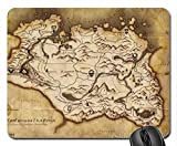 Skyrim Map Mouse Pad, Mousepad (10.2 x 8.3 x 0.12 inches)