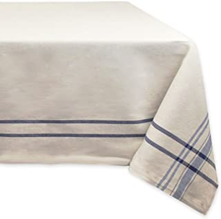 """DII 100% Cotton, Machine Washable, Everyday French Stripe Kitchen Tablecloth For Dinner Parties, Summer & Outdoor Picnics - 60x120"""" Seats 10 to 12 People, Nautical Blue"""