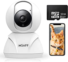 Wireless Security Camera - MSAFF 1080P HD Indoor WiFi Home Cameras with 32GB MicroSD Card, Pan/Tilt/Zoom Baby Pet Monitor w/2 Way Audio, Night Vision, Motion Detection