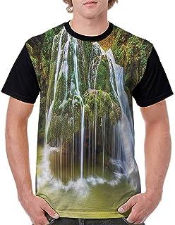 BlountDecor Performance T-Shirt,Diagonal Lines and Squares Fashion Personality Customization