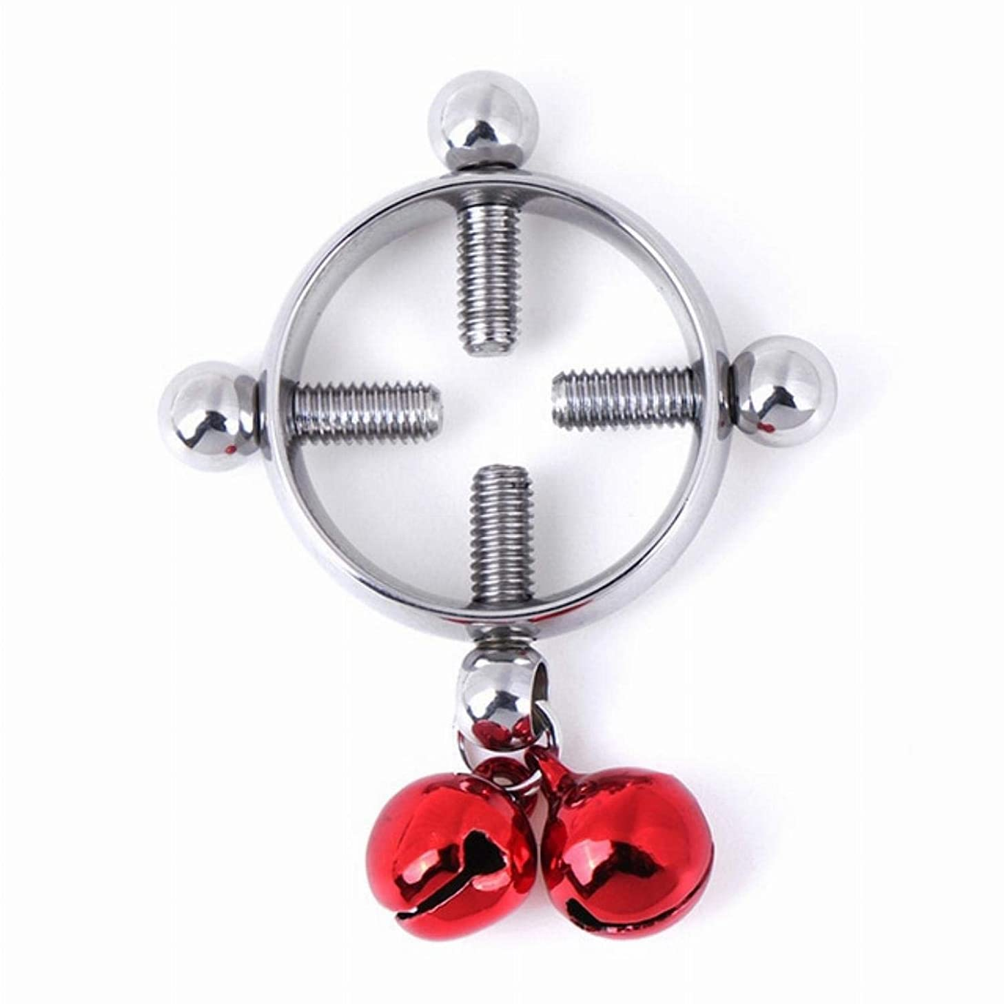 Bihghui Shirt 1 Pair Eroticie Nipple Clamps Sex Toys for Women Stainless Steel Breast Stimulator Nipple Ring Shield Body Piercing As Photo