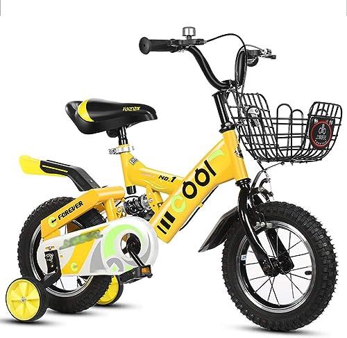 hasta un 65% de descuento BAICHEN Bicicletas para Niños 12 14 16 16 16 18 Pulgadas,Acero de Alto Carbono Bicicleta para Niños con Rueda de Entrenamiento Regalo para 2-9 años Niños y niñas,amarillo,14inches  Venta barata