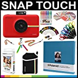 "Polaroid Snap Touch Instant Camera Gift Bundle + ZINK Paper (30 Sheets) + 8x8"" Cloth Scrapbook + Pouch + 6 Edged Scissors + 100 Sticker Border Frames + Gel Pens + Hanging Frames + Accessories"