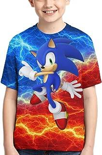 Bargburm Sonic The Hedgehog T-Shirts for Boys Girls,3D Printed Short Sleeve Tee Shirt Kids Tops Tees