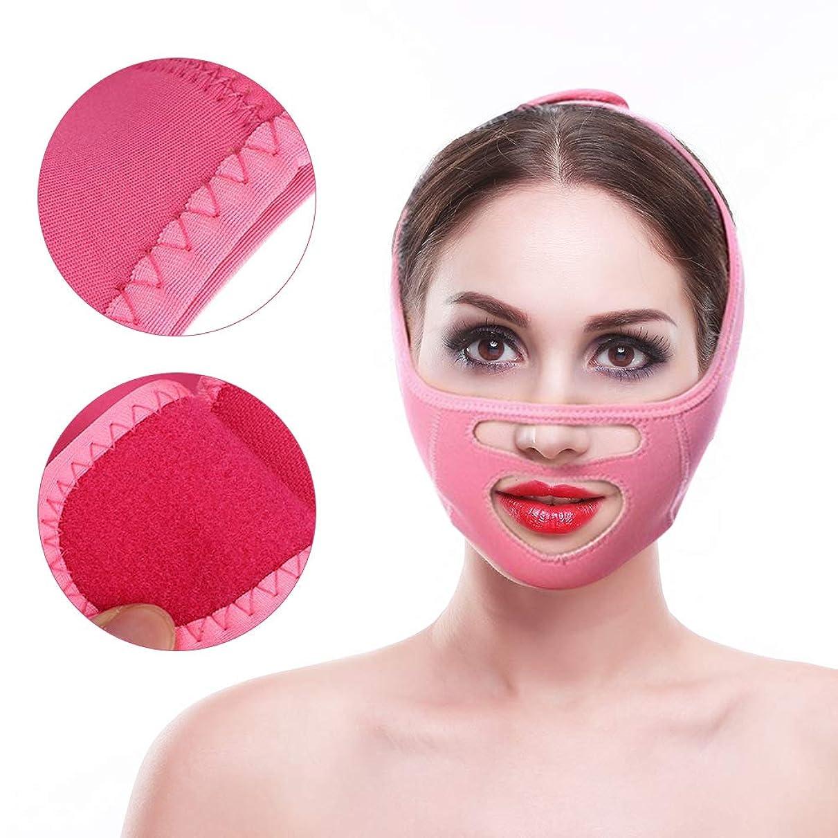 思春期の窒息させる実験をする顔の持ち上がる整形ベルト、効果的に顔の形を改善し、顔と首の二重あごに肌を引き締め包帯を減らす