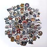 Motocicleta Harley pegatinas. Pegatinas para moto (100 piezas), pegatinas de para coches para moto, portátil, monopatín, ATV, coche, bicicleta