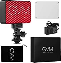 GVM Led Camera Panel Light, White 3200k-5600k and RGB 7-Colors High Brightness Temperature Adjustable, Built-in Rechargeable Battery, with Magnet Filters