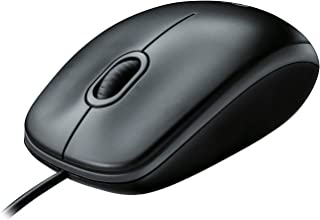Logitech B100 Corded Mouse � Wired USB Mouse for Computers and laptops, for Right or Left Hand Use, Black