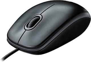 Logitech B100 Ratón con Cable, 3 Botones, Seguimiento Ó