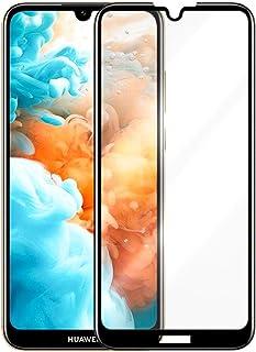 شاشة حماية زجاجية كاملة 5D لهاتف هواوي Y6 برايم 2019 ، لصق كامل بتقنية ال 9H الغير قابلة للكسر او الخدش - اسود