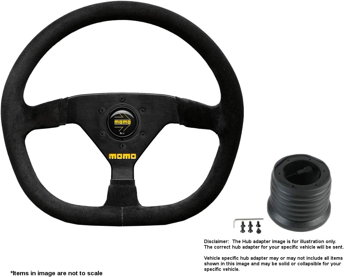 MOMO MOD.88 online shop 320mm 12.6 Inches Suede Popular Wheel B Steering Brushed w
