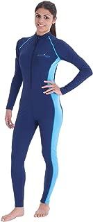Women Full Body Cover Swimsuit UV Protection UPF50+ Chloresist Navy Blue