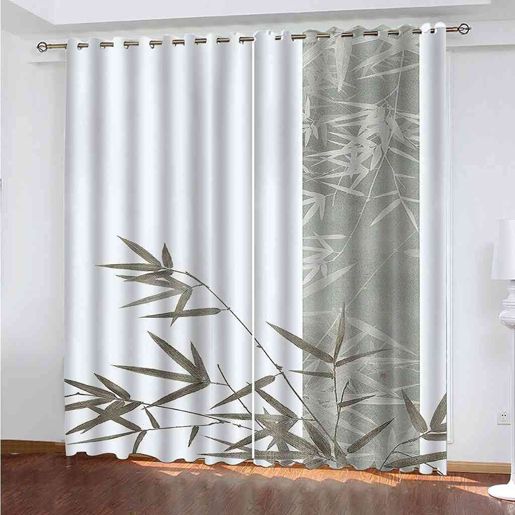 DSVNNZ Max 83% OFF Printing Blackout Curtains for Plan Some reservation Green 2 Bedroom Panel
