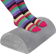 Gwolken Ergonomic Foot Rest Under Desk with Non-Slip Surface, High Rebound Foam Footstool Footrest Ottoman Half-Cylinder R...
