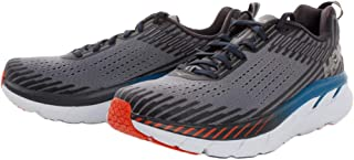 HOKA ONE ONE Mens Clifton 5 Mesh Synthetic Frost Gray Ebony Trainers 10 US