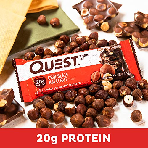 Quest Nutrition Chocolate Hazelnut Protein Bar, High Protein, Low Carb, Gluten Free, 12 Count 6