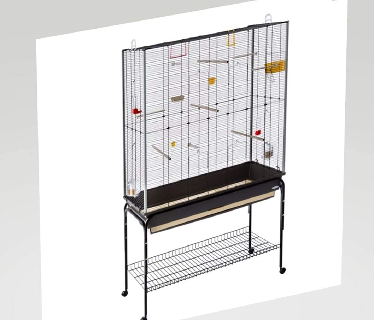 Large Bird Cage Aviary Accessories Stand Burgundy Canaries