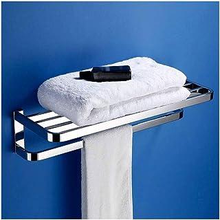 Wstomys Porte-serviettes Porte-serviettes Support de rangement pour panier de douche Tidy 304 étagère murale en acier inox...