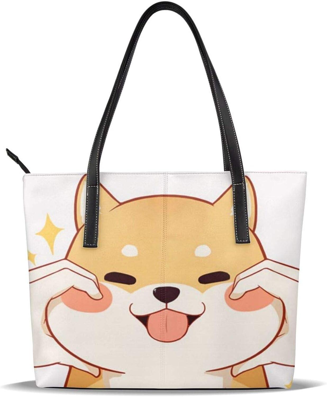 Shiba Inu Japanese Cheap sale Dog Fat Cute Pattern Long Beach Mall Leather Pu Printed Casua