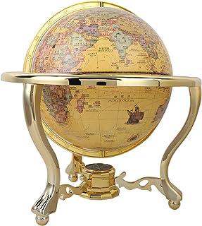 Antique Globe, Retro Globe Decor Desk Globe Globes, for Teaching Desk for Gift Office(25cm)