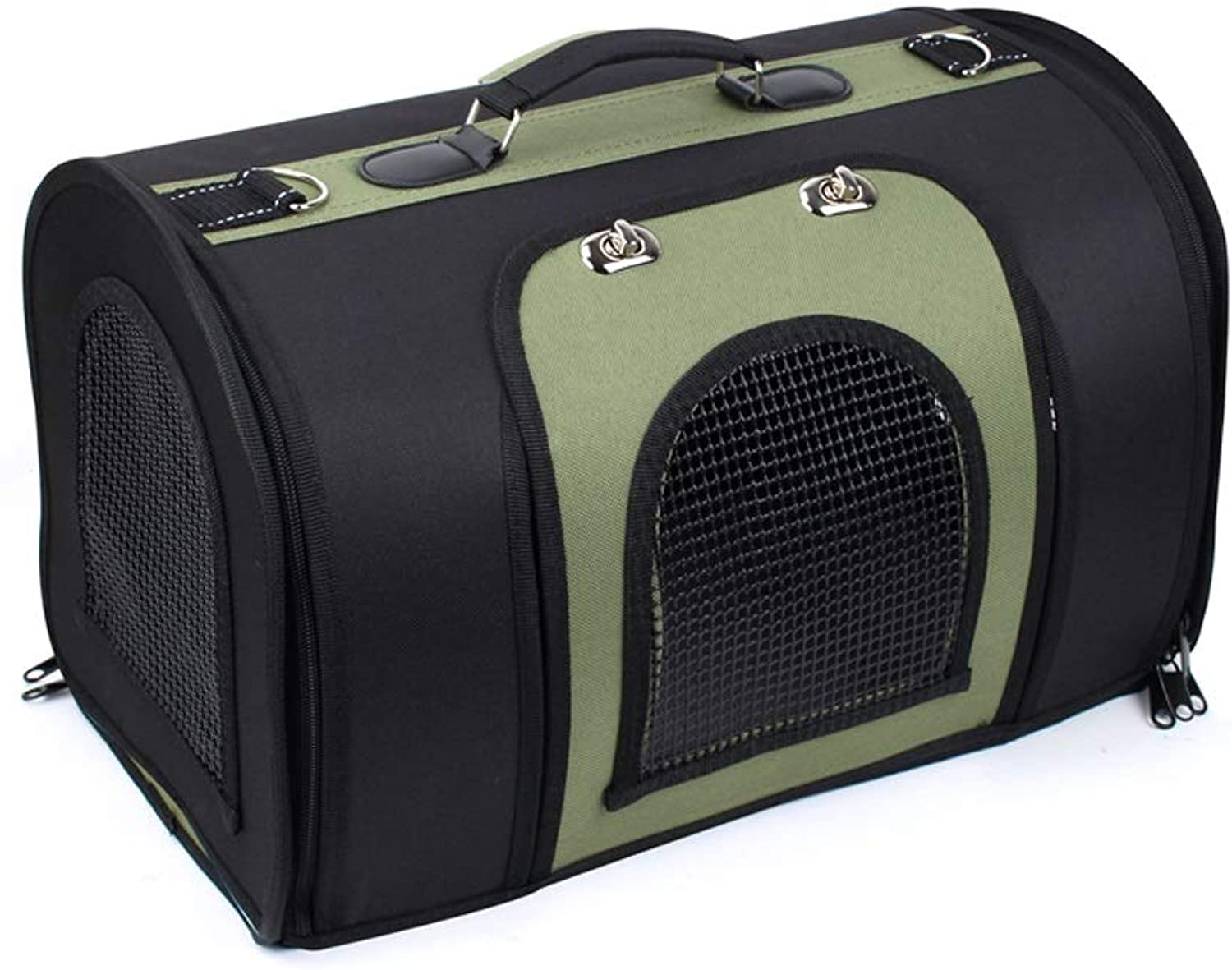 Go Pet Club Soft Crate Bag,Designed for Travel,Outdoor Use,Cat Puppy Small Pets,3 colors (color   Black Green, Size   M)