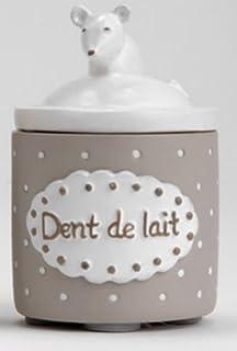 Boîte à dent de lait blanche et taupe