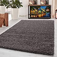 HMWD Thick Pile Fluffy Shaggy Large Area Rug Hallway Runner Non Slip Living Room Bedroom Anti-Shed F...