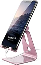 Adjustable Cell Phone Stand - Lamicall Desk Phone Holder, Cradle Dock, Compatible with Phone 12 Mini 11 Pro Xs Max XR X 8 ...