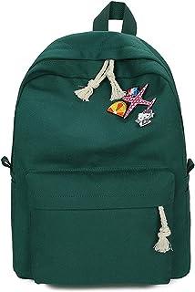 Lässige Rucksäcke für Damen, 4 Stück/Set, Segeltuch, süßes Flugzeug, Schulrucksack für Teenager, Mädchen, Composite-Tasche, Mochila, dunkelgrün Grün - 1