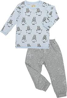 Baa Baa Sheepz Pyjamas Set, Blue/grey, 7-8T