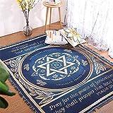 KLSAMNM Manta de oración de Israel Tapiz de la alfombra del sofá de punto toalla de regalo cristiano sala de estar manta de la cama de Oriente Medio Manta decorativa