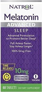 Natrol Advanced Sleep Melatonin Tablets, 10mg, 60 …