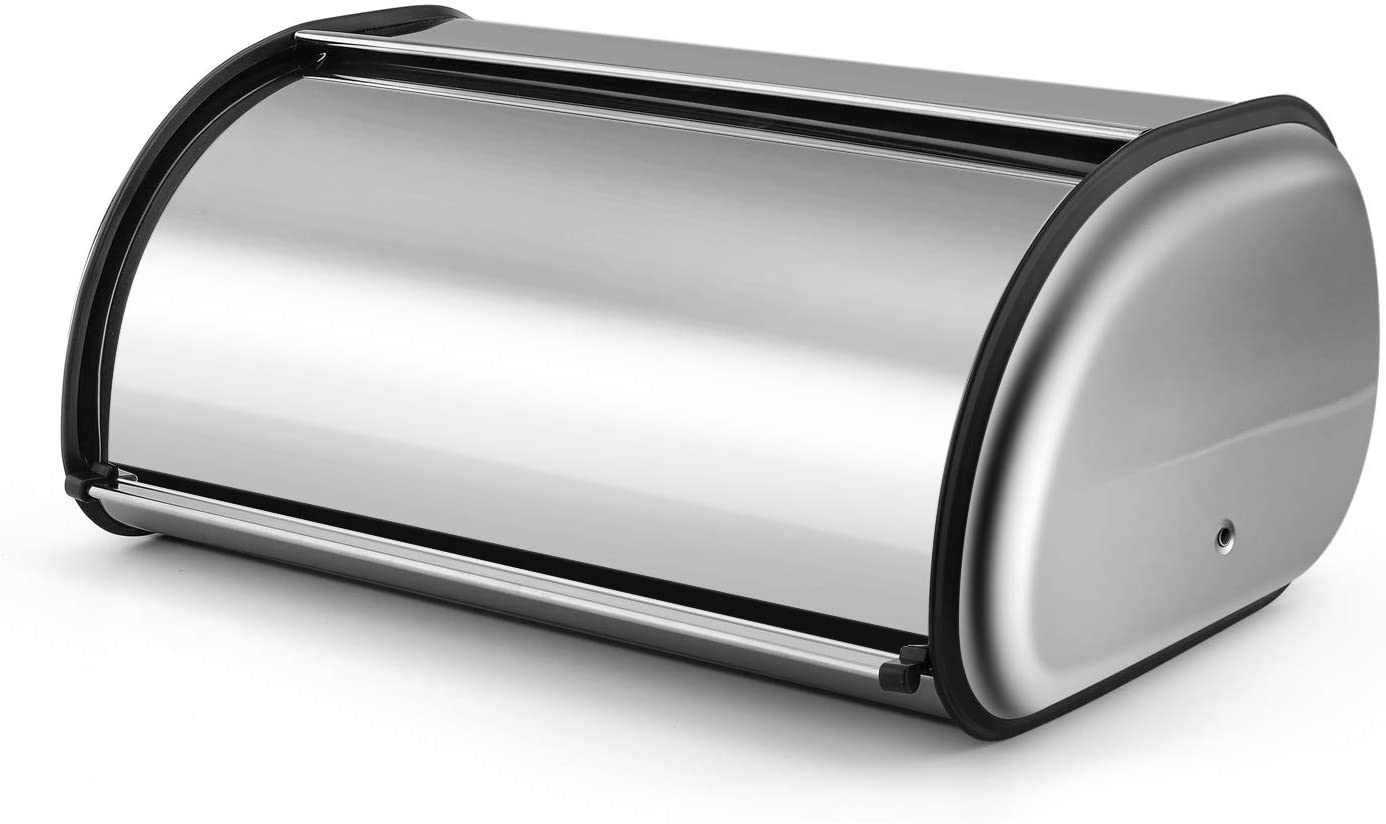 Flexzion Stainless Steel Bread Box Holder Roll inch Metal U All stores are sold 13 Spasm price